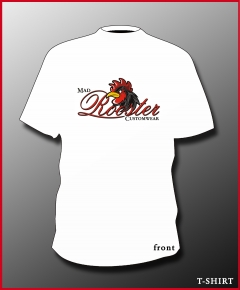 MAD ROOSTER Logo T-Shirt white