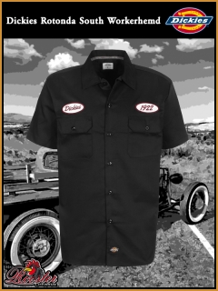 DICKIES Workerhemd Rotonda South black