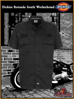 DICKIES Workerhemd Rotonda South black/black