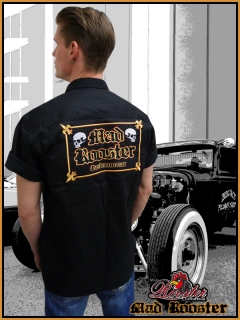 MAD ROOSTER Workerhemd Customwear Rockabilly black