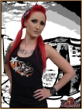 MAD ROOSTER Stars & Butterfly Tank Top Girly Shirt black