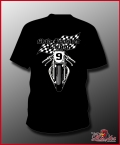 MAD ROOSTER Retro Racing T-Shirt black