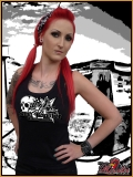 MAD ROOSTER Skull & Flowers Tank Top Girly Shirt black