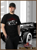 MAD ROOSTER RAT ROD T-Shirt black