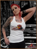 MAD ROOSTER Logo Tank Top Girly Shirt white