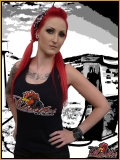 MAD ROOSTER Logo Tank Top Girly black